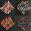 SHENNAIWEI 2017 new  men paisley pocket square  handkerchief 23cm pocket square