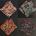 SHENNAIWEI 2017 novos homens paisley lenço de bolso quadrado 23 cm bolso quadrado