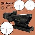 ohhunt chasse 4X32 ACOG Vraie fibre Riflecope BDC Chevron Horseshoe Réticule Viseurs optiques tactiques pour cal .223 .308 Imprimer le logo