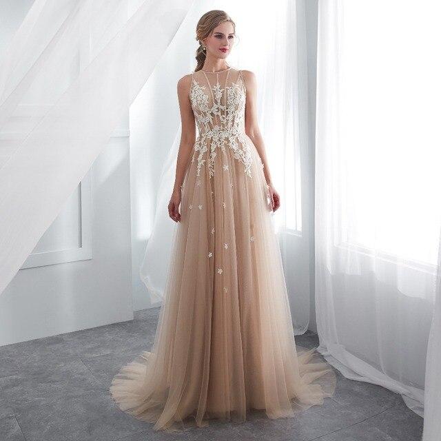 ruthshen Vestidos De Gala Largos Sleeveless Prom Dresses Long Floor Length Party Gowns Elegant Robes De Soiree Formal Prom Dress 4