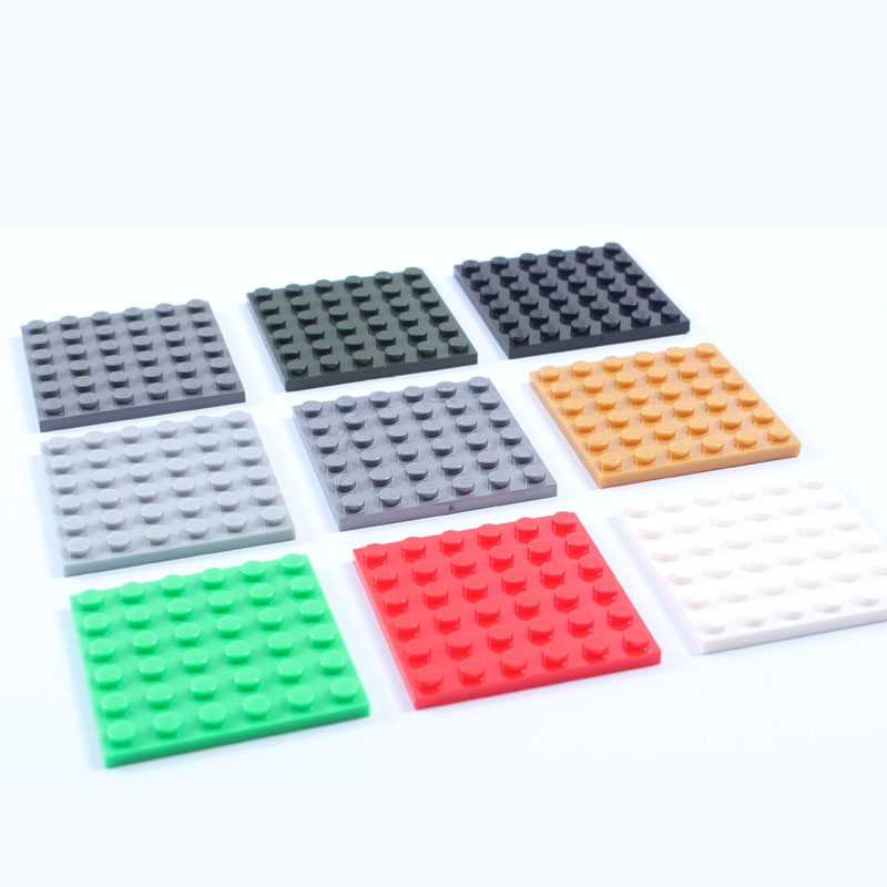 6*6 Small particles Blocks Base plates  Minifigures Bricks particles Base plate Toy Compatible