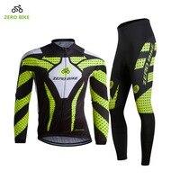 ZEROBIKE Hızlı Teslimat İngiltere'den Gemi erkekler Bisiklet Jersey Seti Dağ Bisikleti Pantolon + Ceket Profesyonel Spor M-XXL