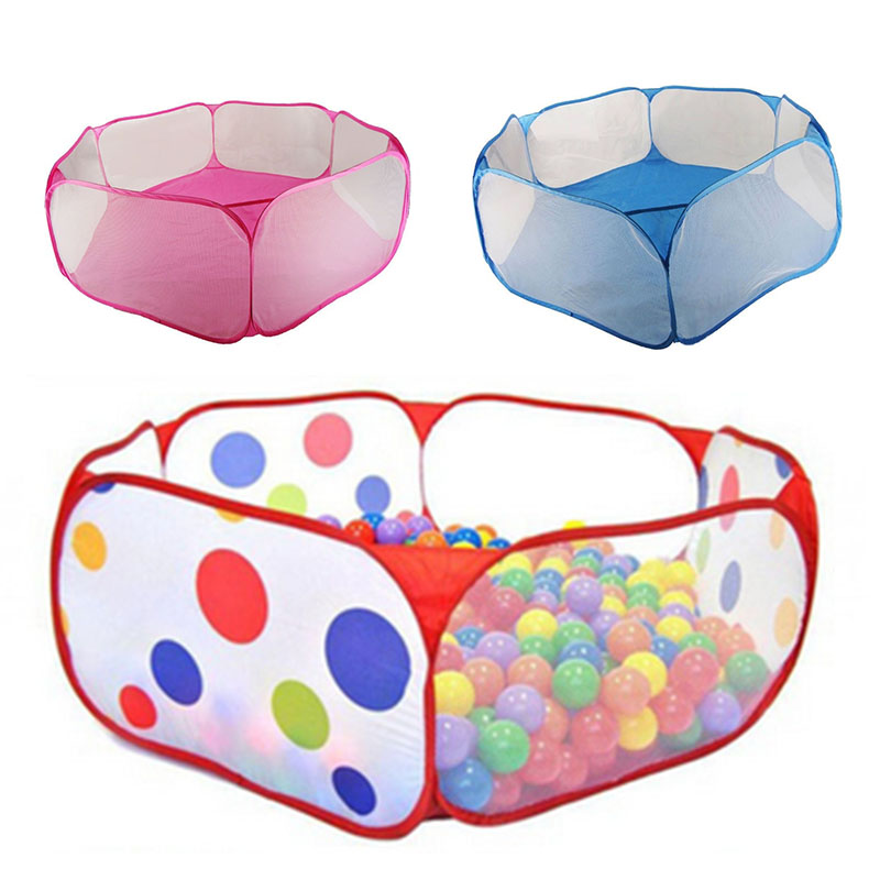 2017 Nya barn Folding Ocean Bollar Pit Holder Bärbara Utomhus Inomhus Roligt Spela Toy Tent House Hut Ball Pool YH-17