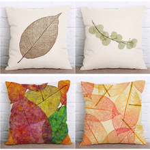 Simple Decorative Home Flower Cotton Linen Pillowcases Room Printed Chair Seat 18x18 inches Throw Pillow Cover Cushion Covers