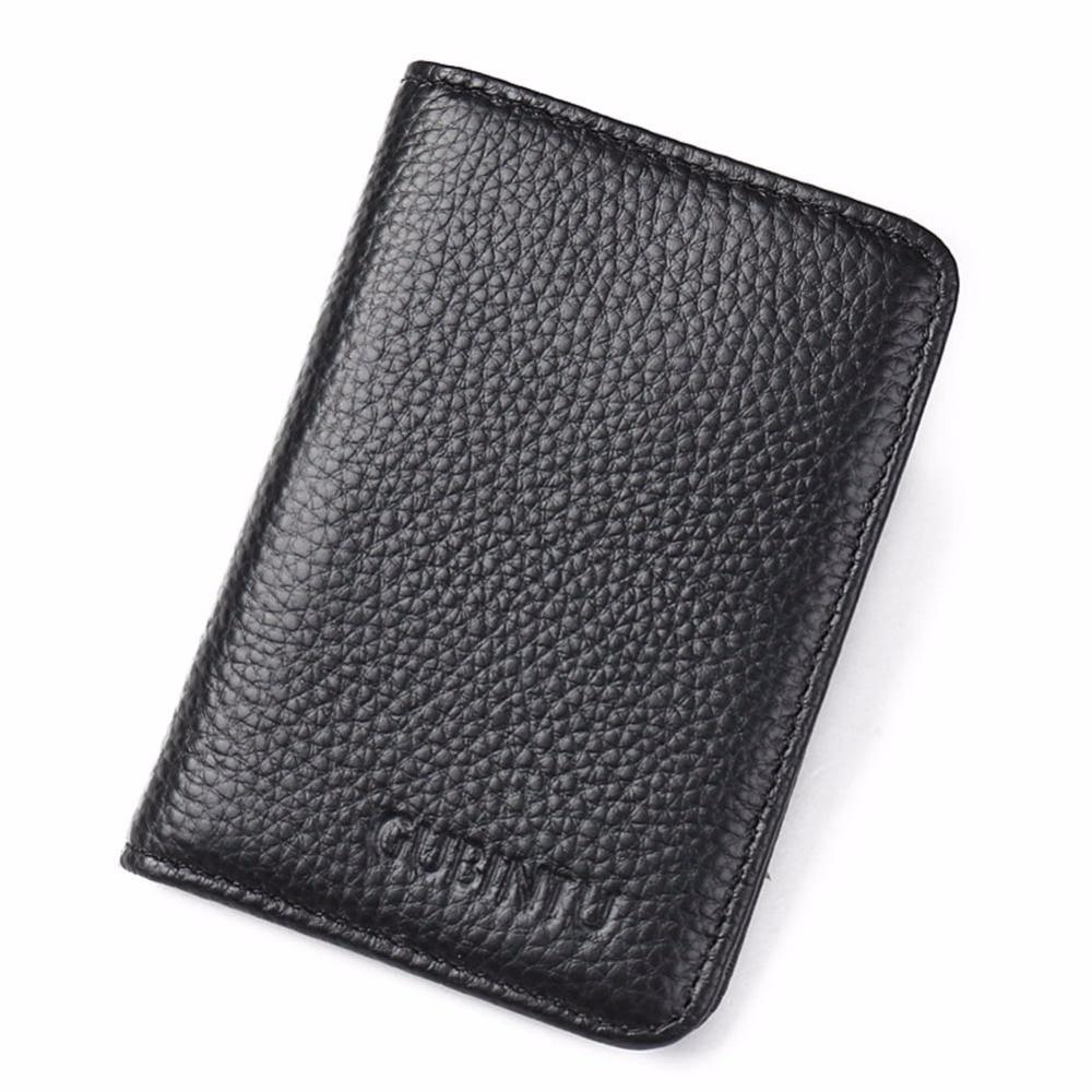 c204a29f21eb GUBINTU Genuine Leather Credit Card Holder Men Designer Card Wallet Rfid  Mini Car Covers For Documents Porte Carte BID176 PM49-in Card   ID Holders  from ...