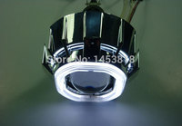 Круговой 3.0HQD 3 дюйма биксенон свет HID двойной Ангельские глазки CCFL объектив проектора фар 4300 К 6000 К 8000 К H1 H4 H7 Универсальный