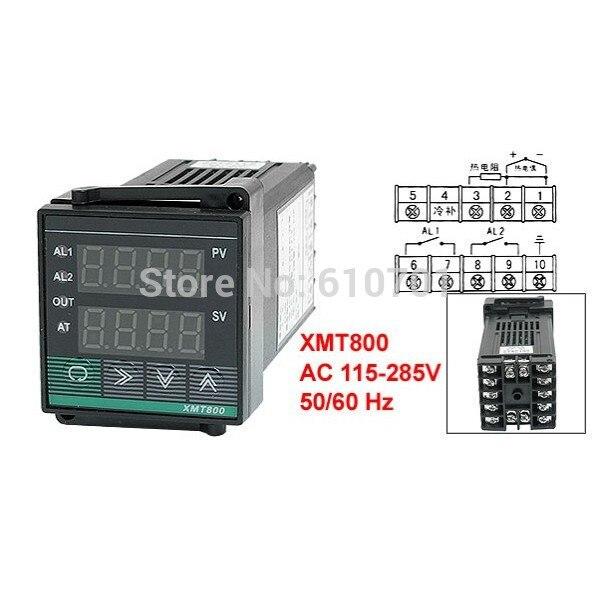 AC 220V 50Hz SSR Alarm Digital Temperature Control Controller XMT-800 xmt 800 pv sv digits display alarm ssr controller temperature control meter m6 k type 2m thermocouple ssr 25da