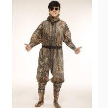 1 мм все тело водонепроницаемый износостойкий Wader брюки рыболовные брюки с нескользящей сапоги для сельского хозяйства Мужчины Женщины болотная одежда