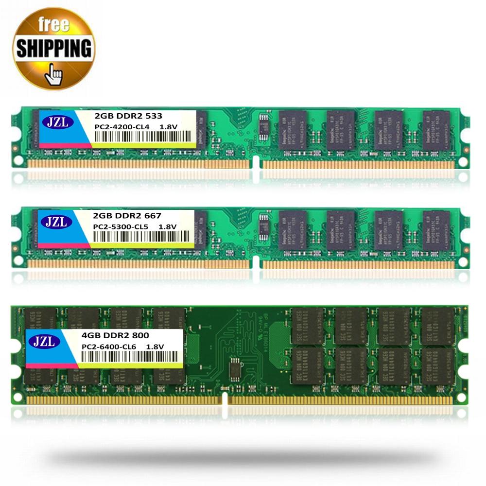 4GB 2pcs 2GB 2RX8 PC2-4200 DDR2 533MHz 240PIN CL4 Desktop INTEL DIMM Memory RAM