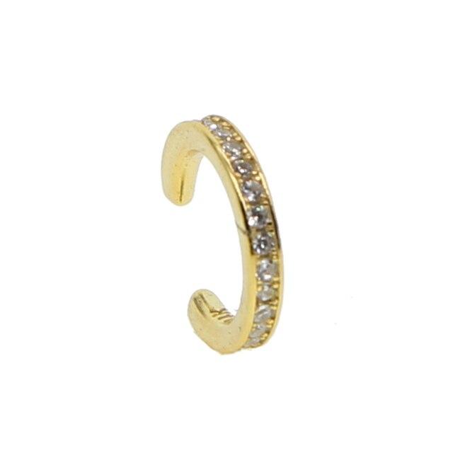 Ear Cuff micro pave cz vòng tròn cuff 925 sterling silver rose gold màu không đâm ngăn xếp có kích thước nhỏ nhỏ cô gái bông tai cuff