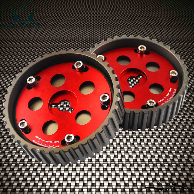 US $33 92 5% OFF|2pcs Adjustable cam gears for Suzuki Swift GTI G13B cam  pulley Red on Aliexpress com | Alibaba Group
