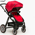 CH baby Fold Baby Stroller With Aluminum Alloy Frame And Spring Shock Proof Air Filled Rubber Wheel