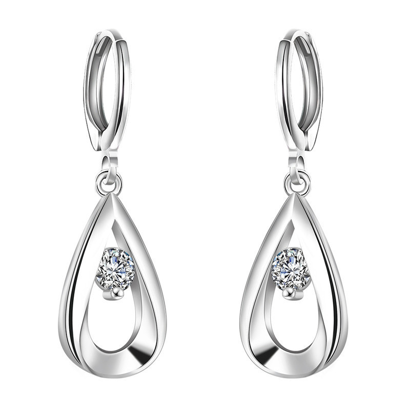 Fashion Silver Earrings Cubic...