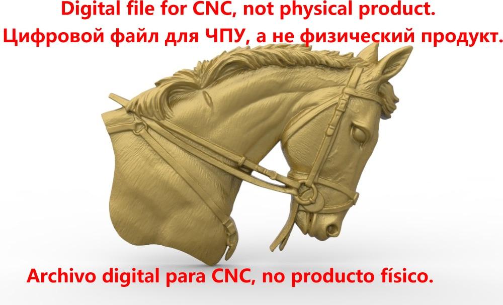 Tête de cheval modèle 3D en relief modèle STL pour CNC routeur sculpture gravure artcam type3 aspire M361