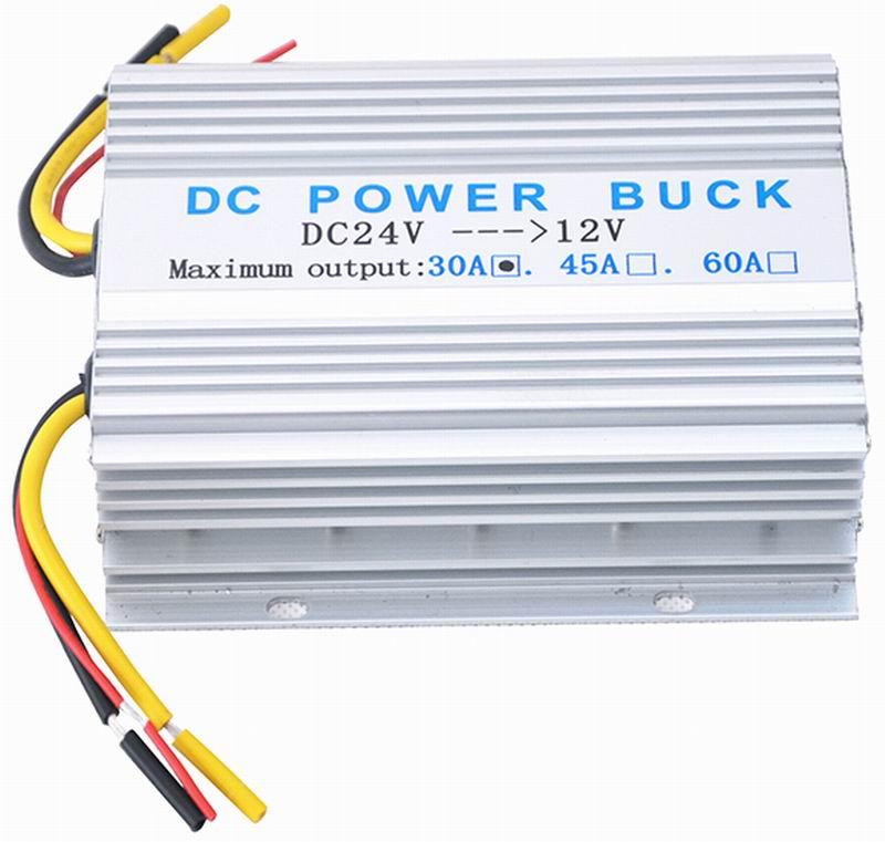 Ouchuangbo 24V DC to 12V Car Auto Power Inverter Converter Adaptor 30A