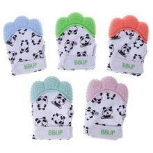 Quality Guaranteed Baby Teether Gloves Panda Cute Cartoon Convex Silicone BPA Free Chew Oral Care