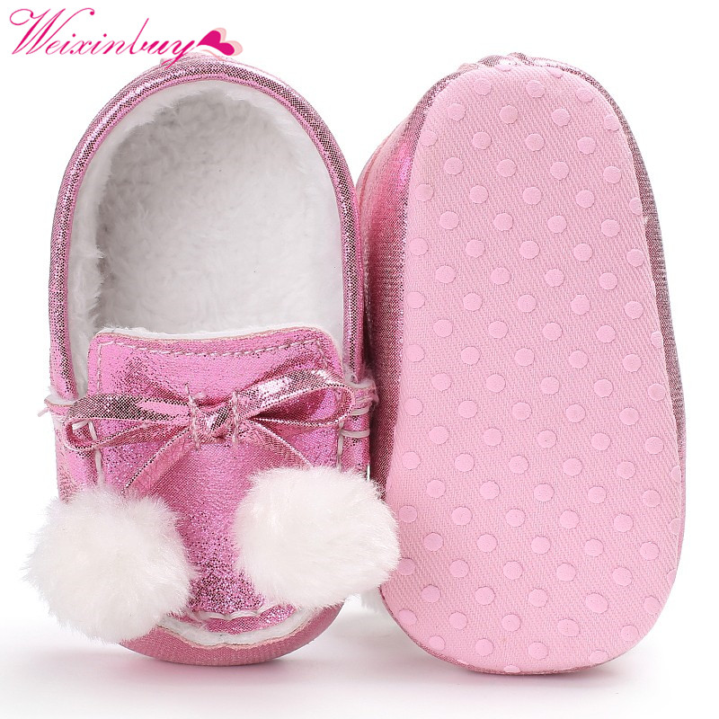 Keep Warm Soft Sole First Walker Crib Babe Pre-walker Newborn Infant Toddler Shoe Baby Boys Girls Cute Winter Shoes