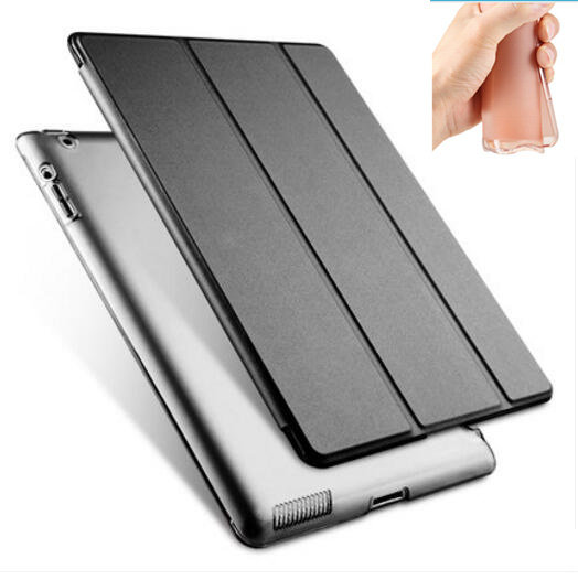 full body protective magnetic soft tpu silicone back pu leather smart case for apple ipad pro 9.7 cover thin flip slim case