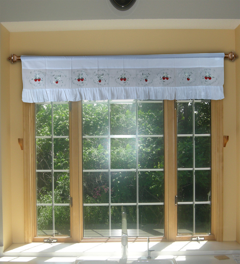 Aliexpress Com Strawberry Embroidery Curtains Valance Swag