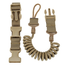 Durable Elastic Outdoor Tactical Safety Lanyard Quick Release Belt Extension type Sling Adjustable Belt Combat Accessories