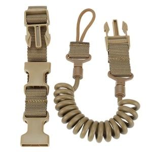 Image 1 - Durable Elastic Outdoor Tactical Safety Lanyard Quick Release Belt Extension type Sling Adjustable Belt Combat Accessories