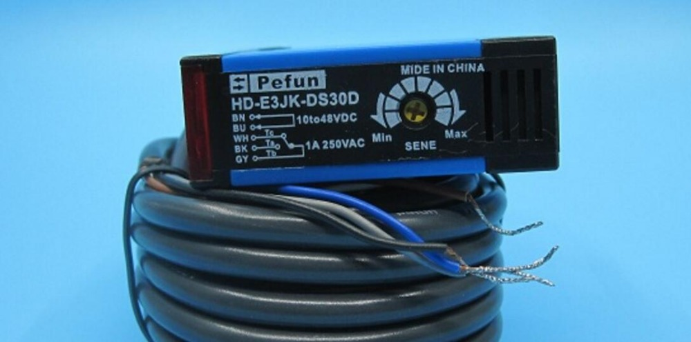 все цены на Jorder on Haiqiao Te electronic photoelectric switch E3JK-DS30D photoelectric sensor diffuse type 5 lines онлайн