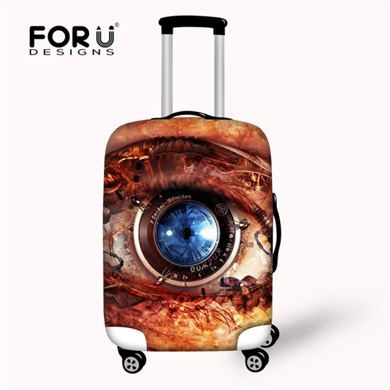 FORUDESIGNS Stretch Fabric Luggage Protective Cover For 18 To 28 Inch Trolley Suitcase Elastic Dust Bags Case Suitcase Cover