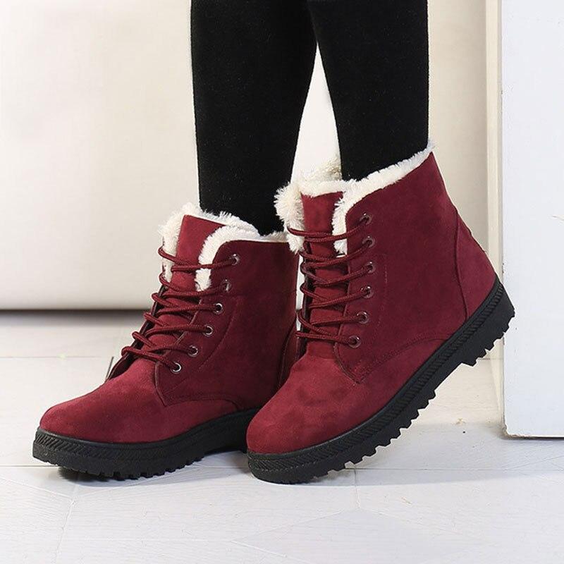 Women Boots 2017 Winter Boots Women Warm Fur Ankle Boots For Women Warm Winter Shoes Botas