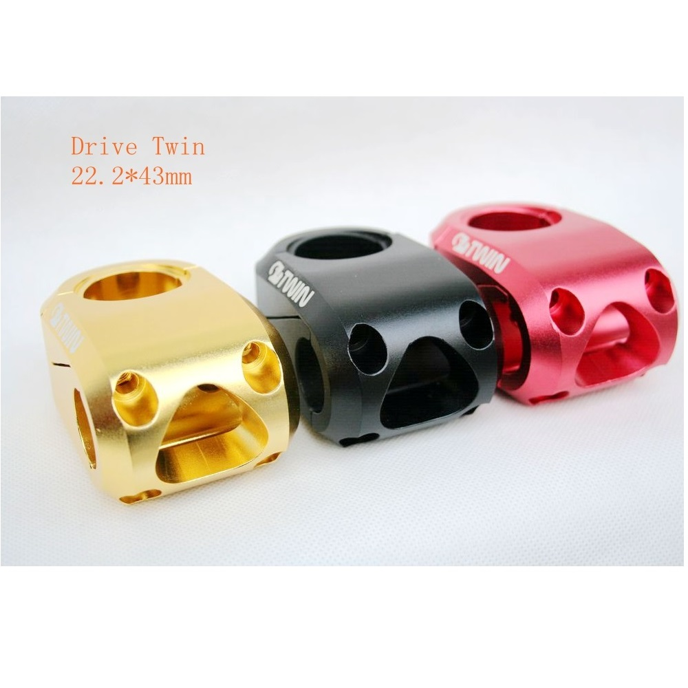 DRIVE TWIN Mountain Bike BMX Cycling Bicycle Bike Stem 22.2mm 43mm gold red black color