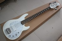 Active Pickups 9V battery white Music Man Ernie Ball Sting Ray 5 String Bass Electric Guitar 14930