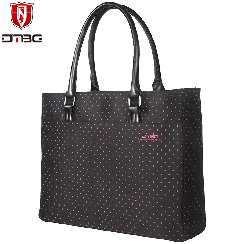 DTBG 2018 New Arrival Women Laptop Shoulder Bag Ladies Notebook Tote Bag Nylon Dot Briefcase Fashion Handbag Casual Travel Bags цена