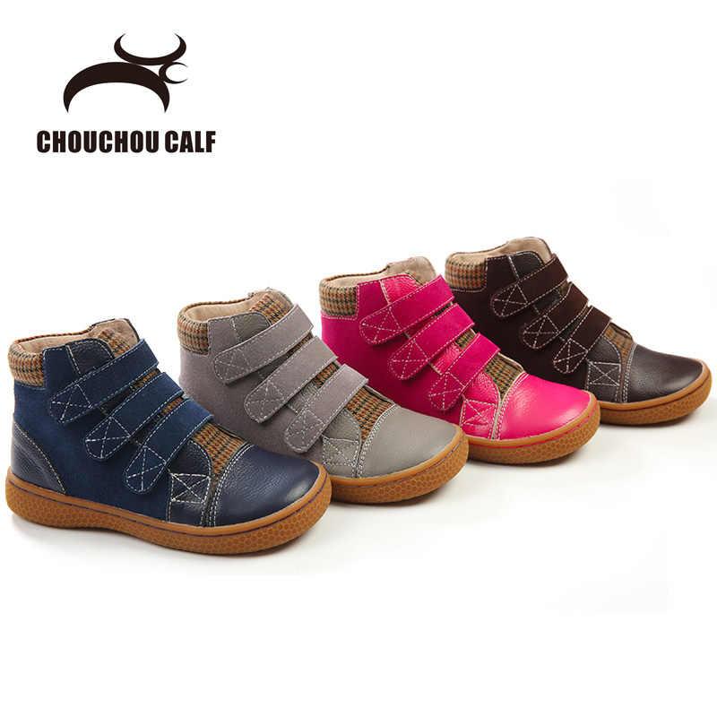 9519a2ad1ae0 Оригинальные кожаные ботинки детская обувь кожаные ботинки весна-осень  девушки сапоги кожаная обувь для мальчиков