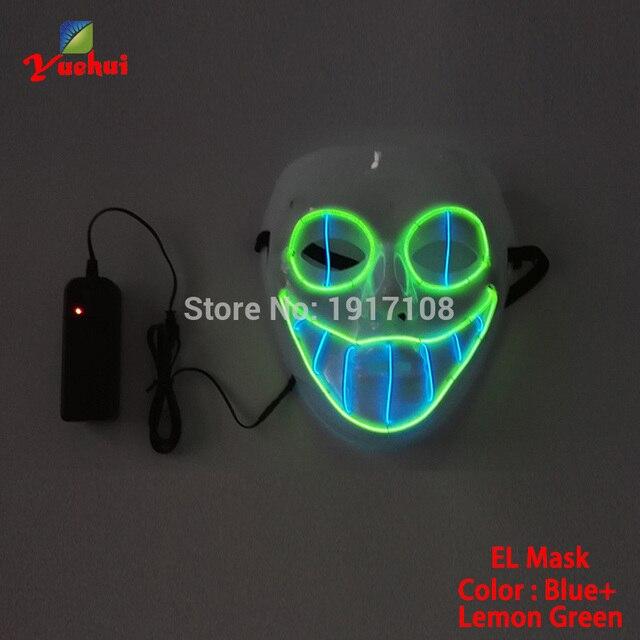 Hot sales EL wire Horror smile Masks Halloween Mask glowing EL ...