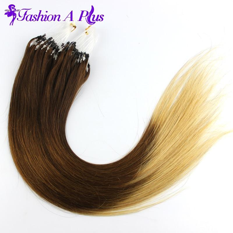 Malaysian Virgin Hair Stright 100strands Human Hair Extension Micro