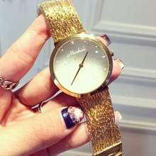 2017 Моды Случайные Часы Золотой Браслет Дамы Кварцевые Часы Женщины Rhinestone Часы женские Элегантность Наручные Часы Relojes Mujer