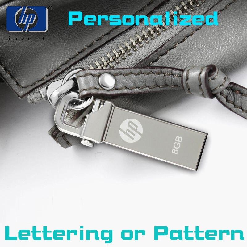 HP mini USB Flash Drive 8gb pendrive Metal Pen usb Custom lettering pattern Drive Tiny drive