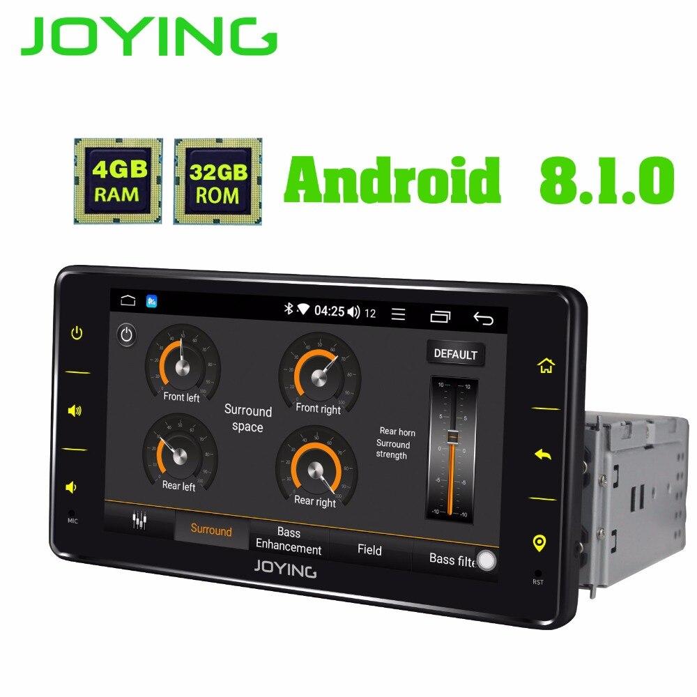 JOYING 4 GB RAM 32 GB ROM 6.2 ''1 DIN Android 8.1 unité de tête stéréo de voiture bluetooth FM RDS lecteur radio soutien caméra de recul dvr