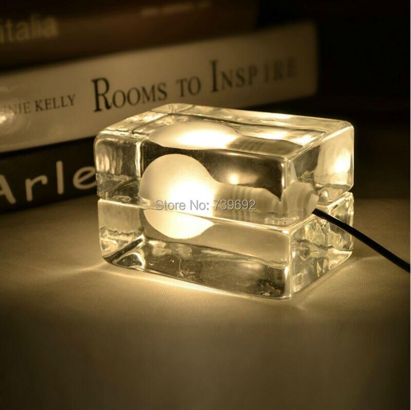 Series design house block ice cubes lamp table lamp,Nordic American ...