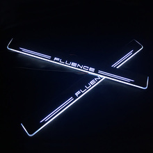 SNCN LED Car Scuff Plate Trim Pedal Door Sill Pathway Moving Welcome Light For Renault Fluence 2010 - 2015 Waterproof Acrylic sncn led car scuff plate trim pedal door sill pathway moving welcome light for audi a3 s3 2014 2015 2016 waterproof acrylic