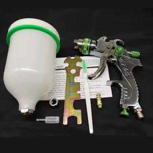 Image 5 - G2008 מקצועי HVLP 600ML 1.4/1.7/2.0mm זרבובית הכבידה פנאומטי אוויר צבע אקדח עיקור עבור רכב תיקון אוטומטי כלי ציור ערכת