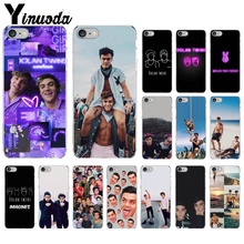 Yinuoda Dolan Twins Grayson Ethan Transparent TPU Soft Silicone Phone Cover for Apple iPhone 7 8 6 6S Plus X XS MAX 5 5S SE XR yinuoda animals dogs dachshund soft tpu phone case for apple iphone 8 7 6 6s plus x xs max 5 5s se xr mobile cover