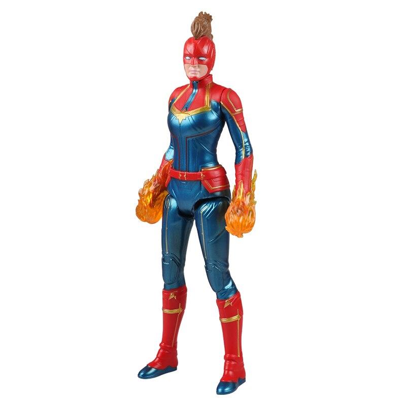 30 см Marvel Мстители игрушки танос Халк Бастер человек паук Железный человек Капитан Америка Тор Росомаха Черная пантера фигурка куклы - Цвет: Captain A no box