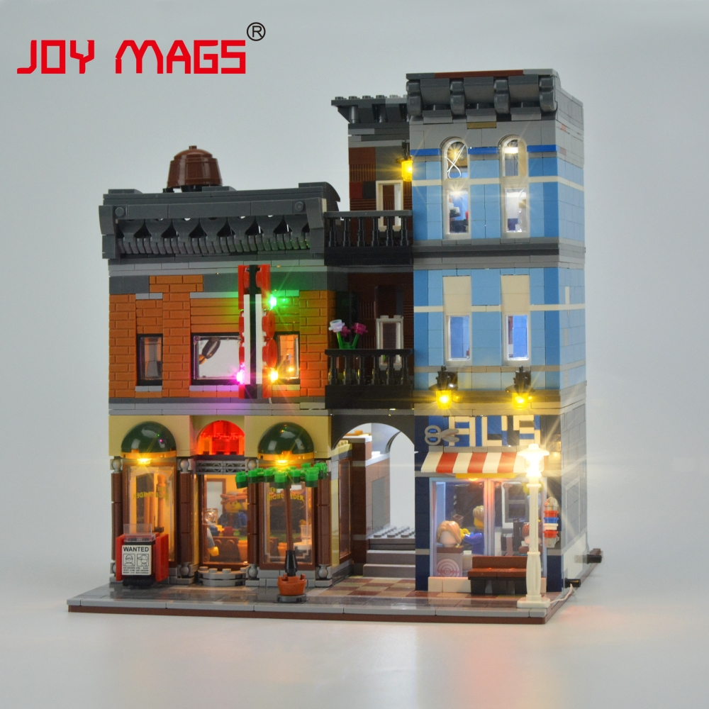 JOY MAGS Led Light Light Up Kit For Creator Detective Office Light Set With Instruction Book Compatible With 10246 And 15011 joy mags only led light set building blocks kit light up kit for creator series f40 car compatible with lego 10248 21004