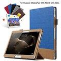 De Empalme de la moda Colorido Libro Soporte Del Tirón de LA PU Cubierta de Cuero para huawei mediapad m2 10 m2-a01w m2-a01l 10.1 tablet + film + pluma