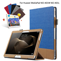 Fashion Splice Colorful Book Stand Flip PU Leather Case Cover For Huawei MediaPad M2 10 M2-A01W M2-A01L 10.1 Tablet +Film +Pen