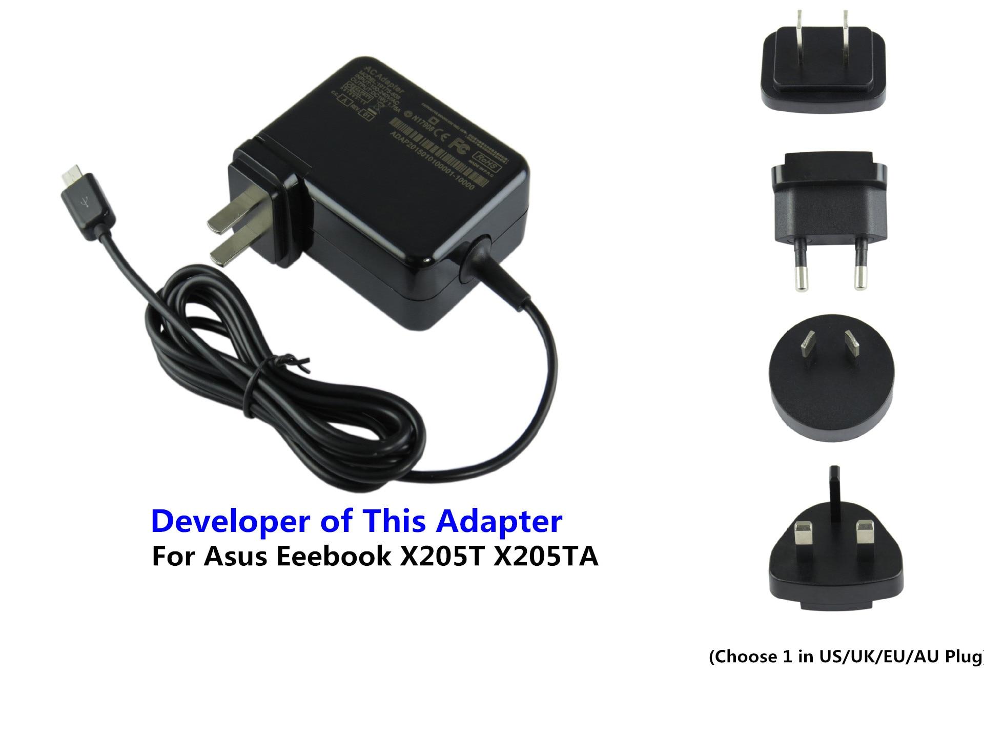 Chargeur d'adaptateur d'alimentation pour ordinateur portable AC Direct usine 33 W pour Asus Eeebook X205T X205TA 11.6 pouces ordinateur portable neuf inventé 19 V 1.75A