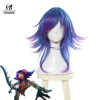 ROLECOS LOL Neeko Cosplay Headwear The Curious Chameleon Game Cosplay New Character Cosplay Mix Color Women Hair