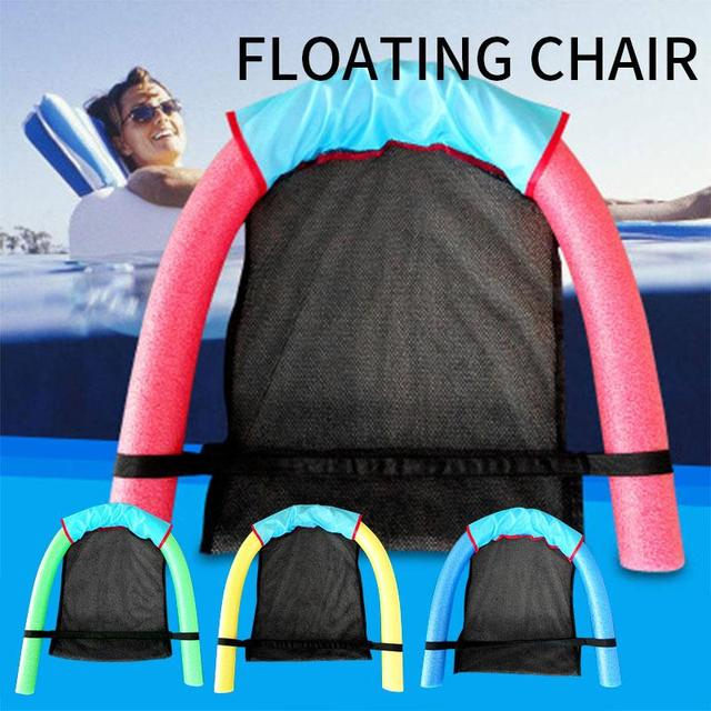 60x150CM Children Kids Soft Noodle Pool Mesh Water Floating Bed Chair Swimming Seat