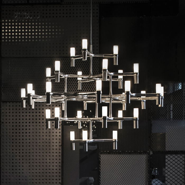 pendant lamps modern Nordic Postmodern pendant lights for high ceiling 30 Heads 5 Layers Aluminum Candle Crown Pendant Light решетка дл барбек rd 103в 2 глубока 40 35 5см рark