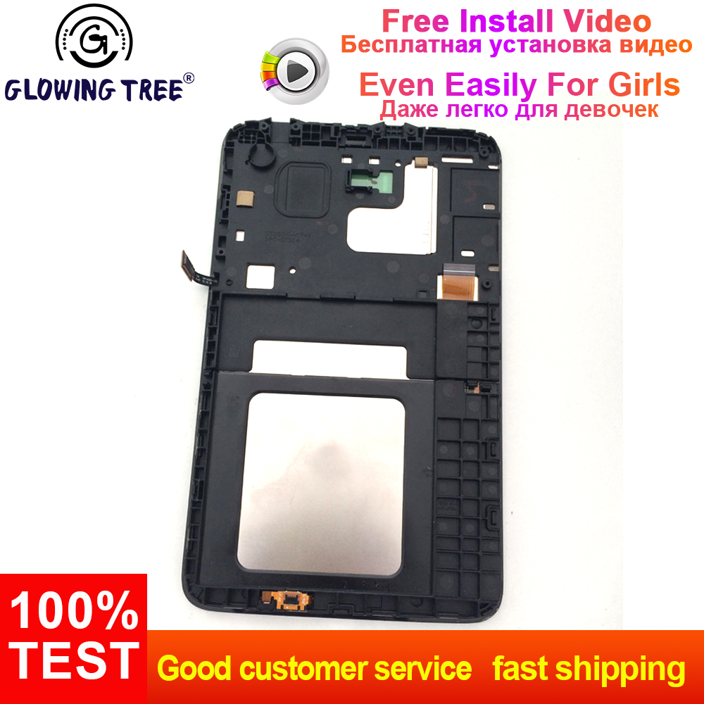 Computer & Office Intellective 2 Color For Samsung Galaxy Tab 3 Lite 7.0 T110 Sm-t110 Touch Screen Digitizer Lcd Display Panel Monitor Assembly With Frame A Great Variety Of Models Tablet Accessories